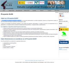 Estudio Longitudinal Envejecer en España (ELES)