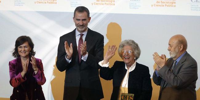 M.ª Ángeles Durán (IEGD), Premio Nacional de Sociología y Ciencia Política 2018